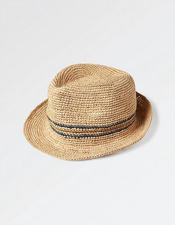 Blue Stripe Trilby