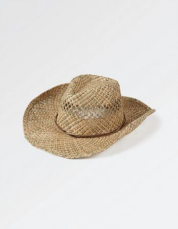 Mens Open Weave Cowboy Hat