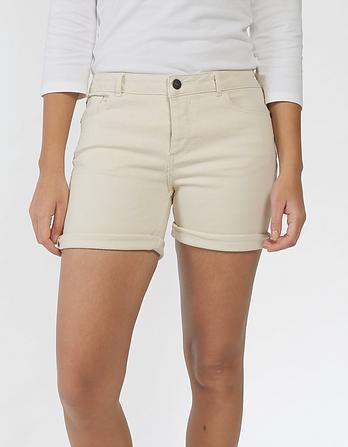 Ecru Denim Shorts