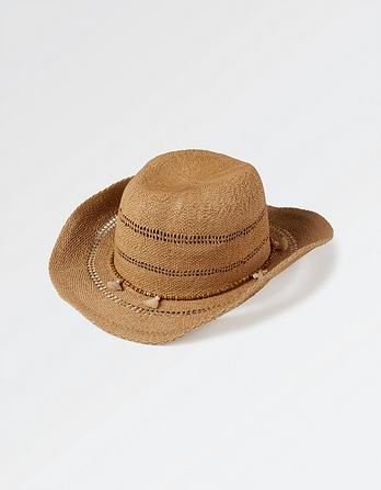 Tassel Trim Cowboy Hat