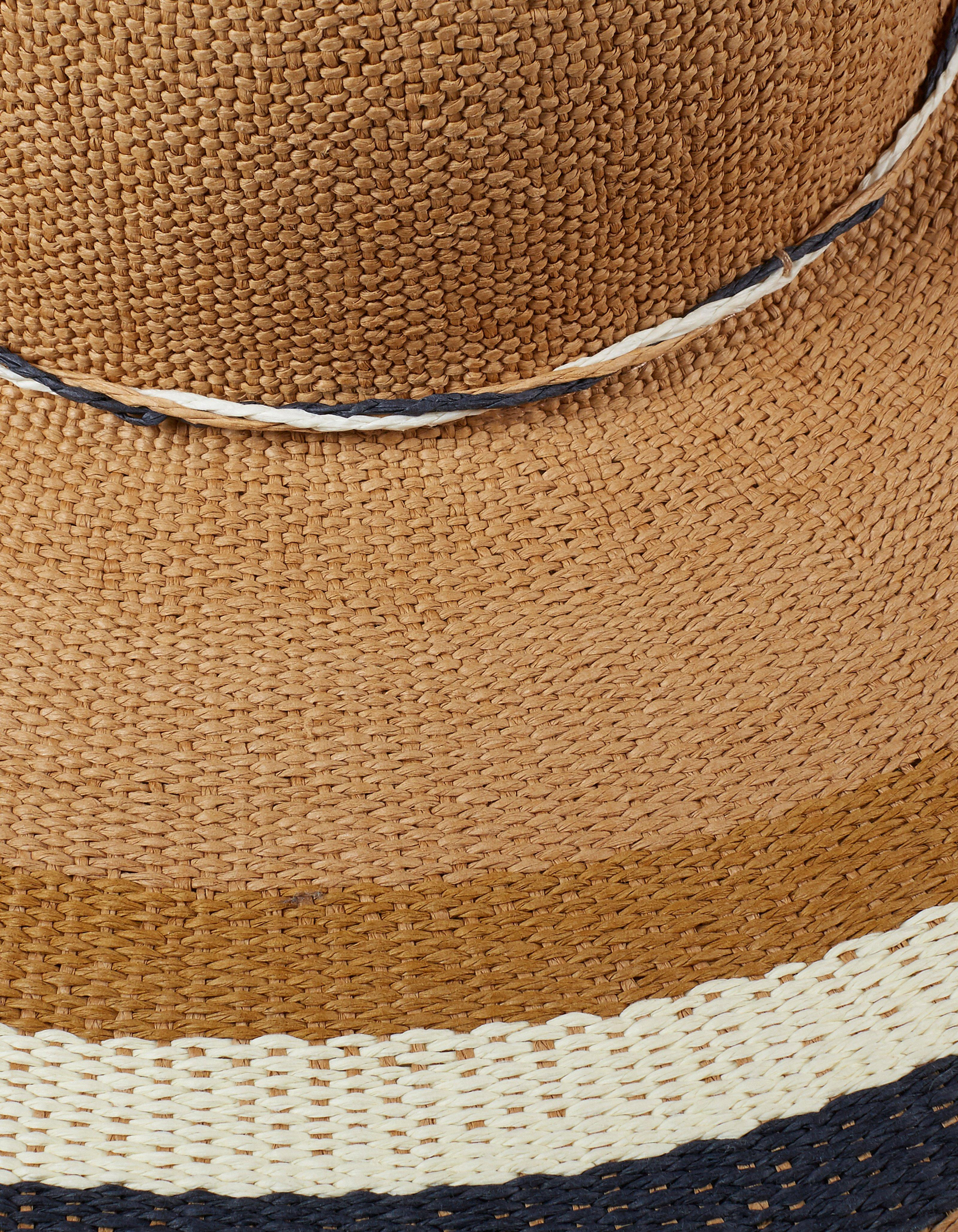 Striped Brim Floppy Hat