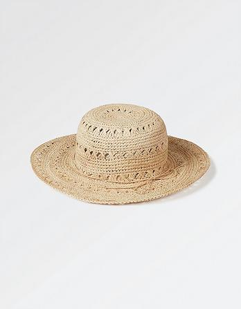 Textured Weave Straw Hat