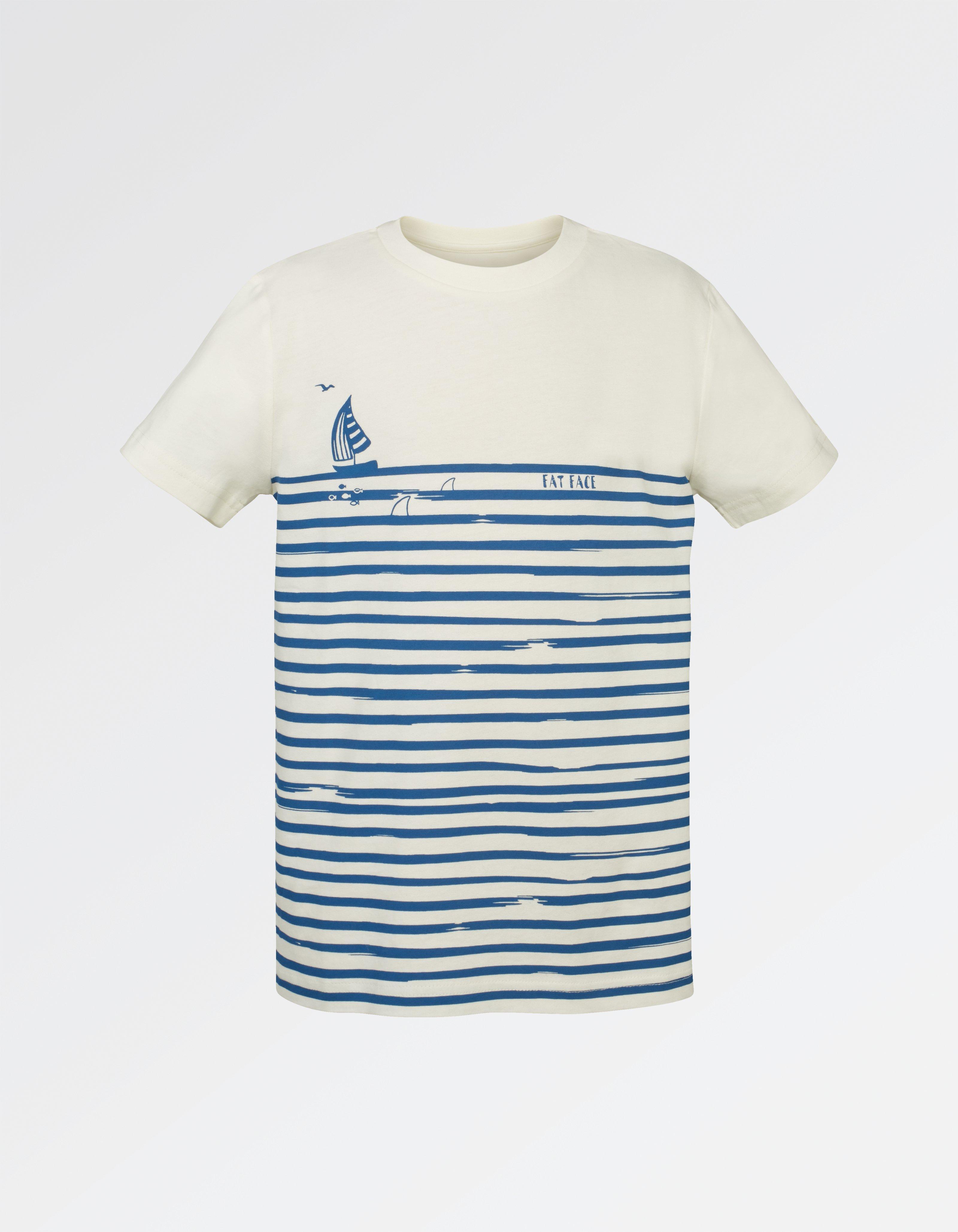Stripe Sailing Graphic T Shirt