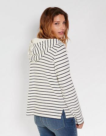 Whitstable Stripe Popover Hoody