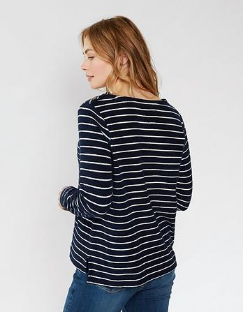 Whitstable Stripe Crew Neck Sweater