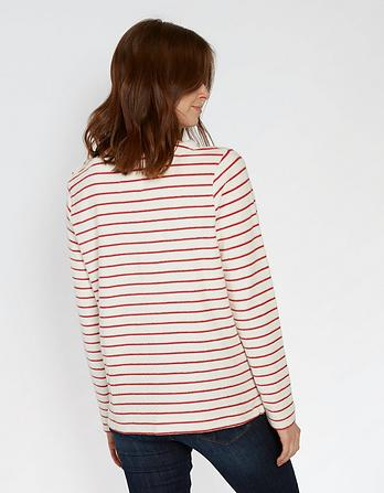 Whitstable Stripe Crew Neck Sweater