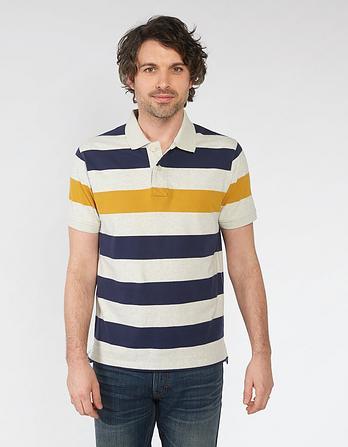 Benton Organic Cotton Stripe Polo