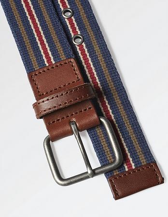 Nathan Woven Stripe Belt