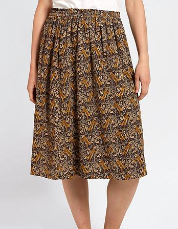Corinne Tiger Vine Skirt