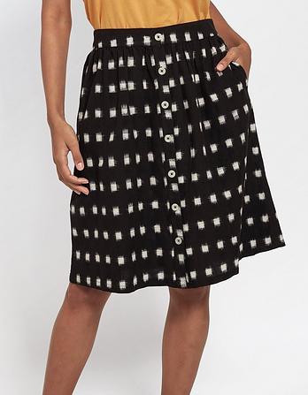 Alana Ikat Button Skirt