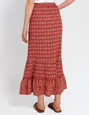 Lydia Daisy Diamond Tiered Maxi Skirt