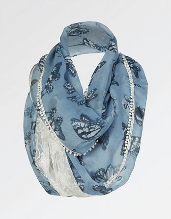 Painterly Butterfly Lace Snood