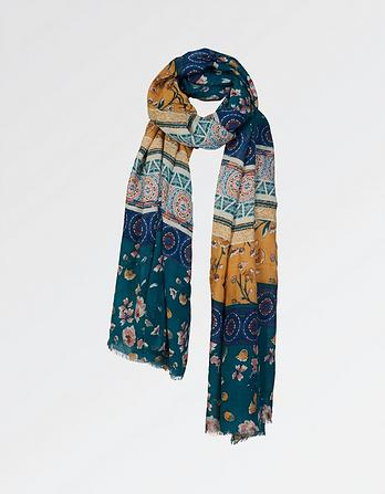 Maria Floral Patchwork Scarf