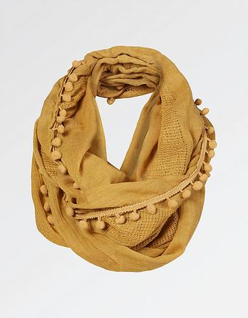 Pompom Edge Plain Snood