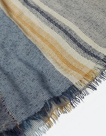 Multi Variegated Stripe Scarf