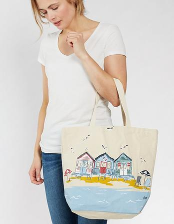 Beach Huts Shopper Bag