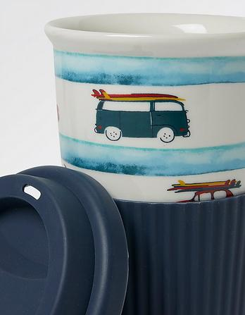 Camper Stripe Travel Mug