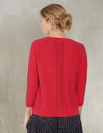 Organic Cotton Rose Cardigan