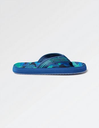 Shark Camo Flip Flops
