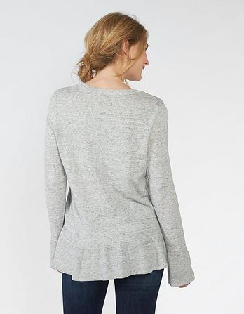 Organic Cotton Cassie Peplum Jumper