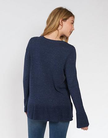 Organic Cotton Cassie Peplum Sweater