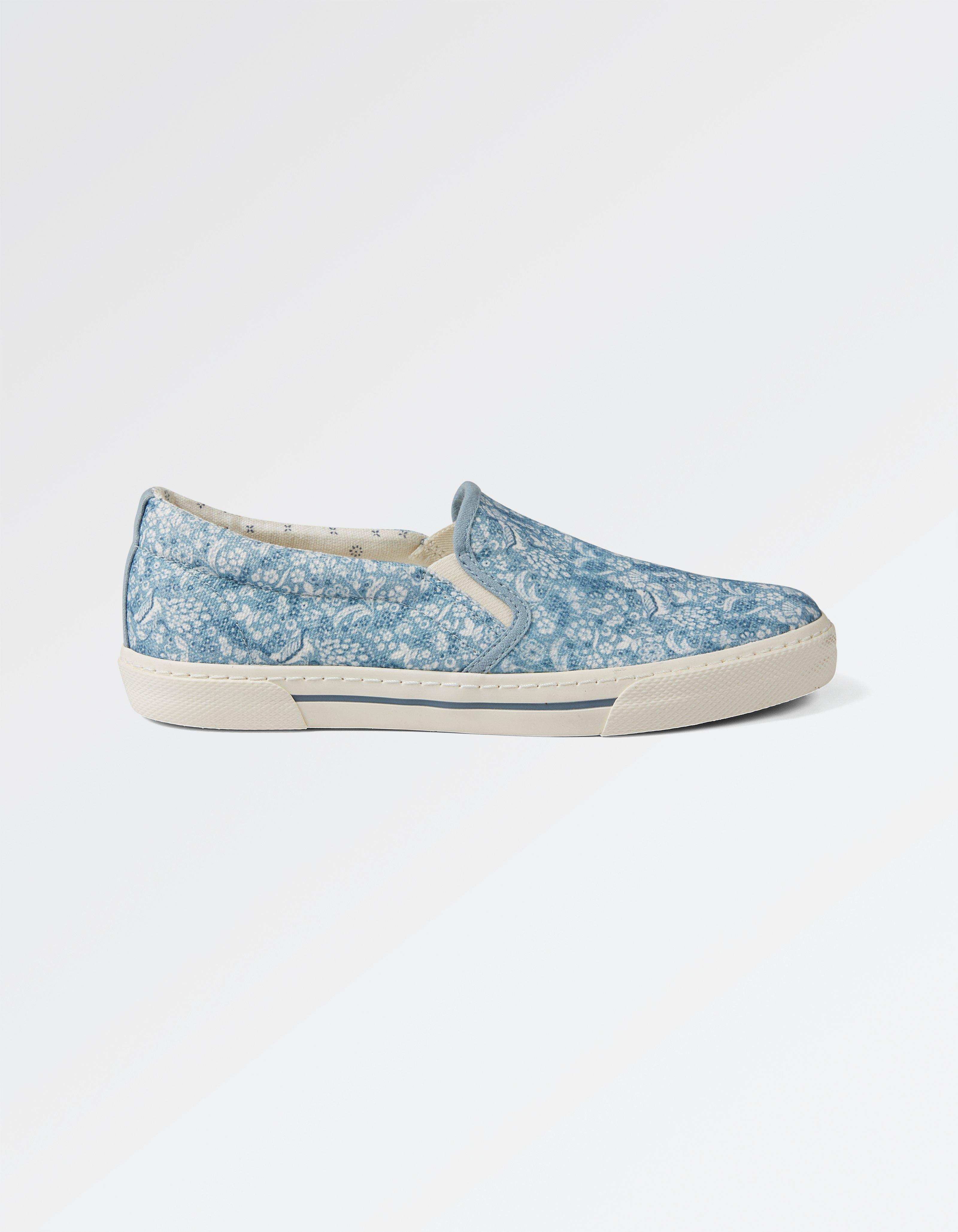 Stoneby Print Slip On Trainers