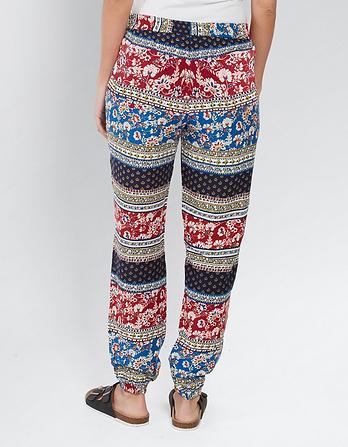 Sari Floral Printed Pants