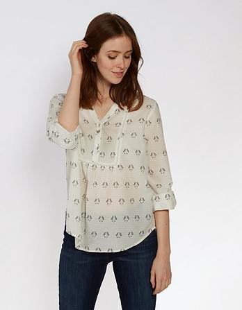 Organic Cotton Poppy Gem Geo Popover