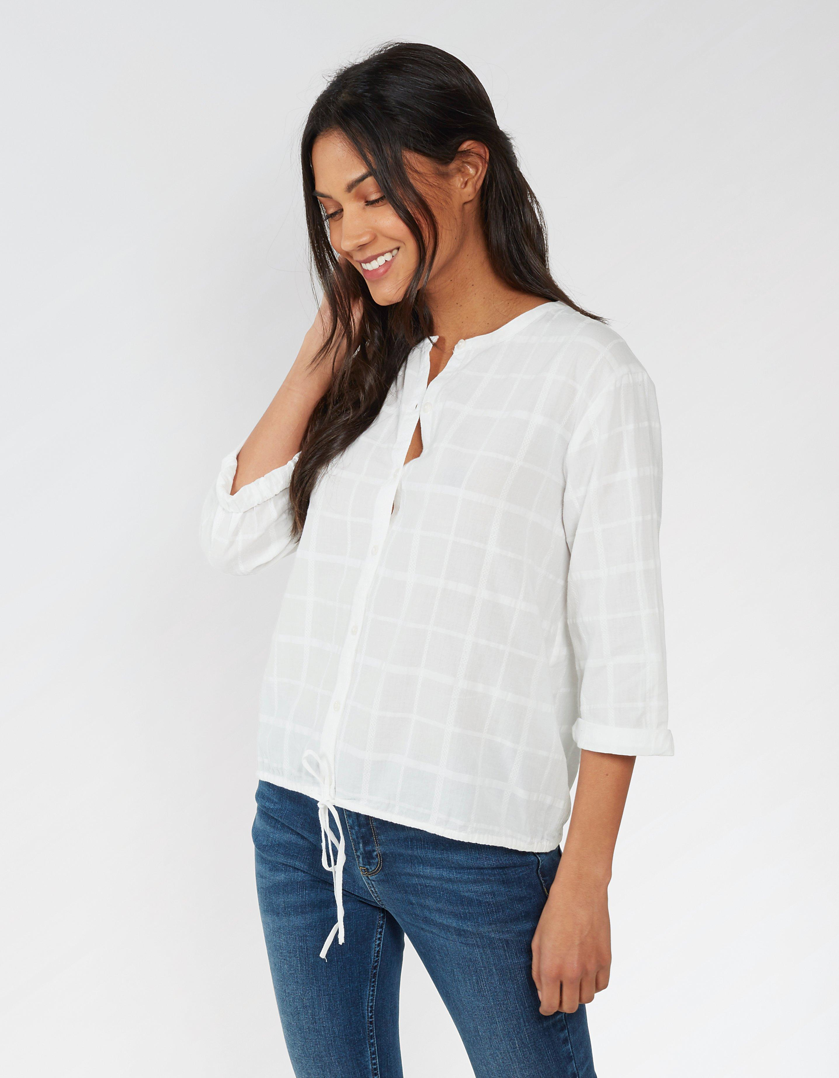Ellie Check Tie Front Shirt