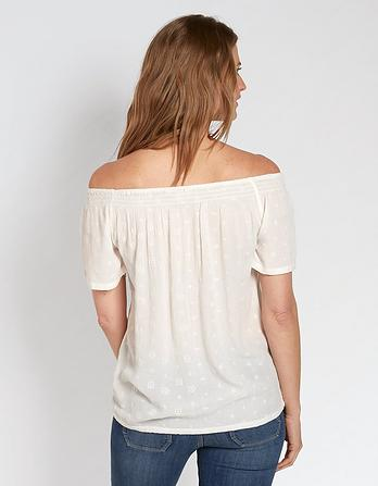 Ellen Embroidered Bardot Top