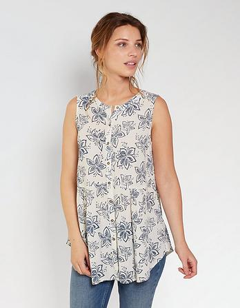 Evie Star Flower Longline Top