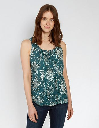 Organic Cotton Cassie Star Flower Cami