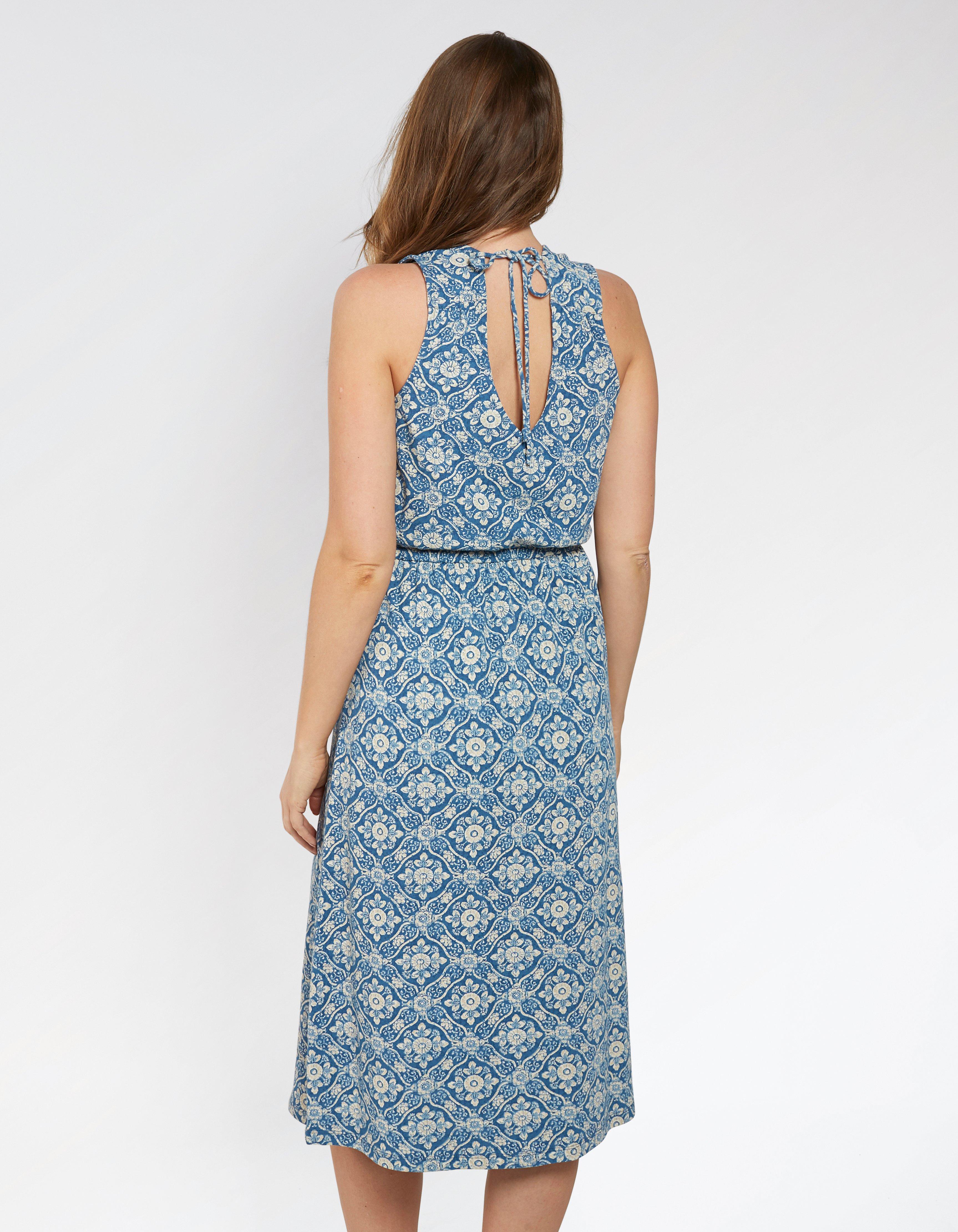 Blair Woodblock Midi Dress
