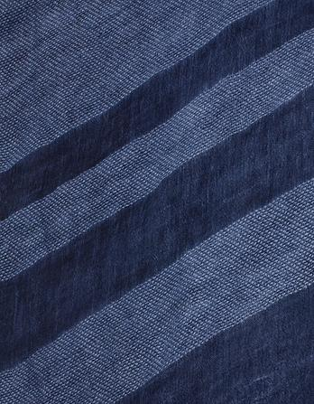 Indigo Stripe Scarf