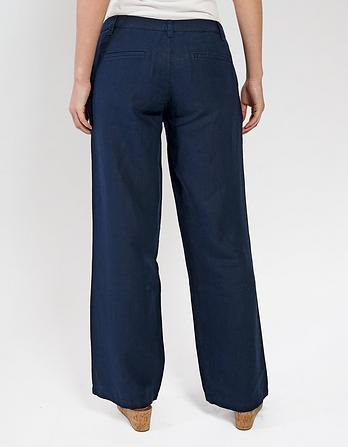 Linen Wide Leg Trousers