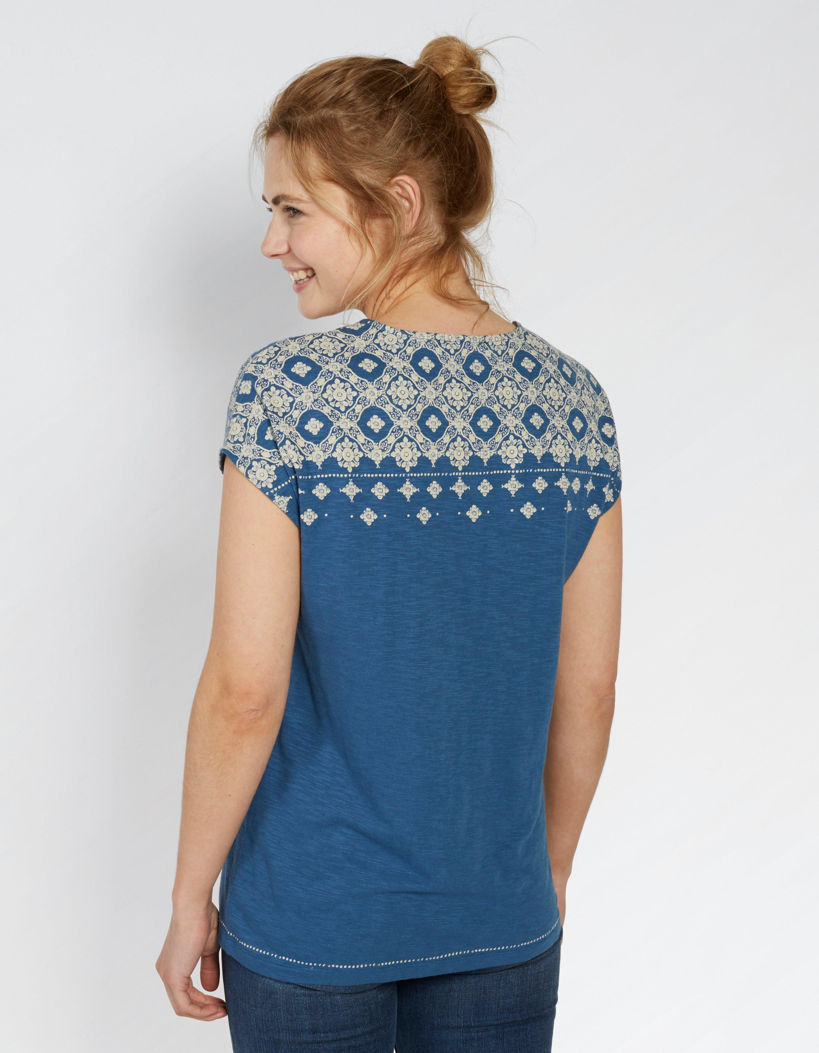 Woodblock Graphic T Shirt