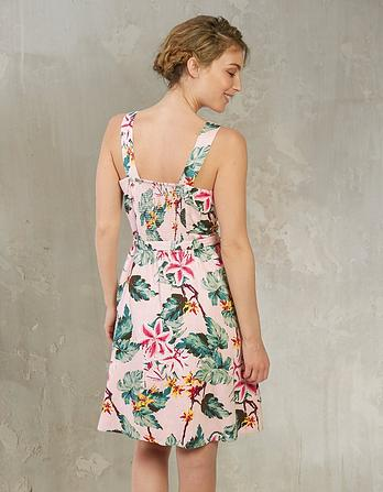 Serena Tropical Flower Dress