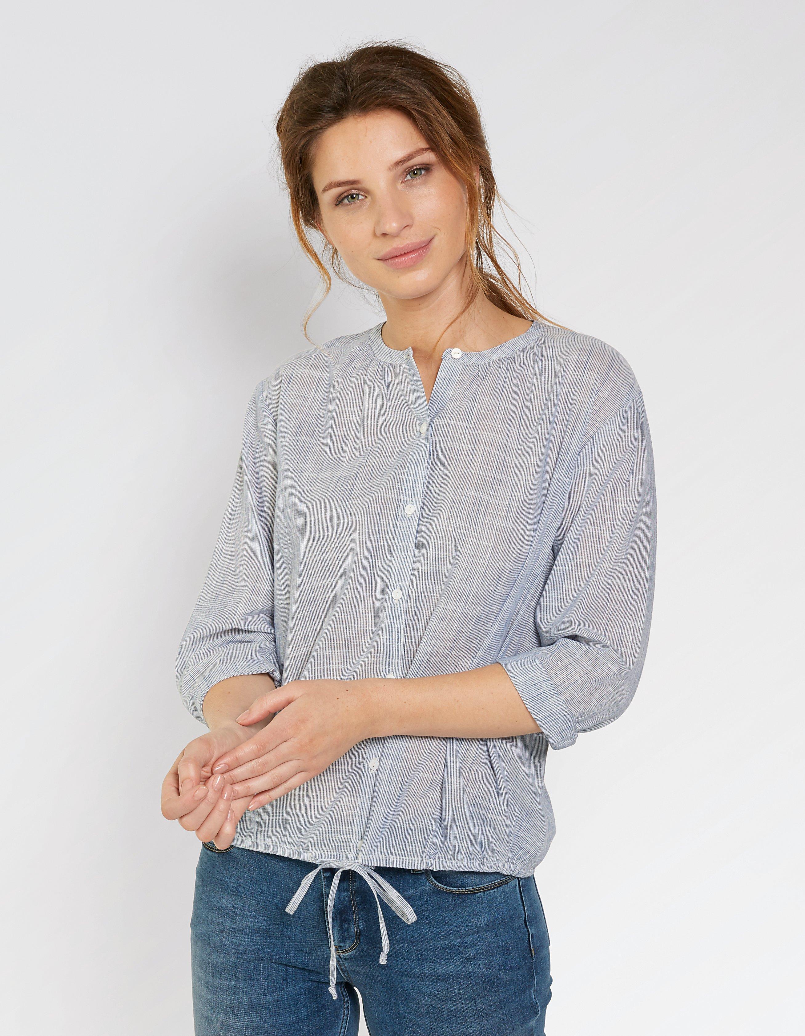Ellie Stripe Tie Front Blouse