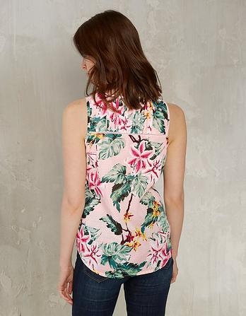 Organic Cotton Cassie Tropical Flower Cami