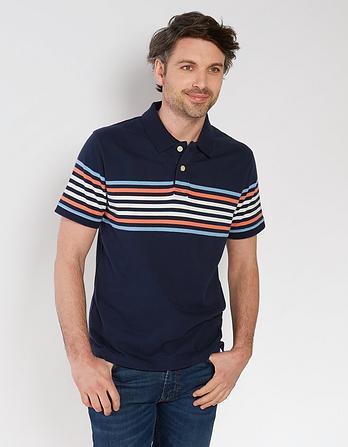 Kent Stripe Organic Cotton Polo