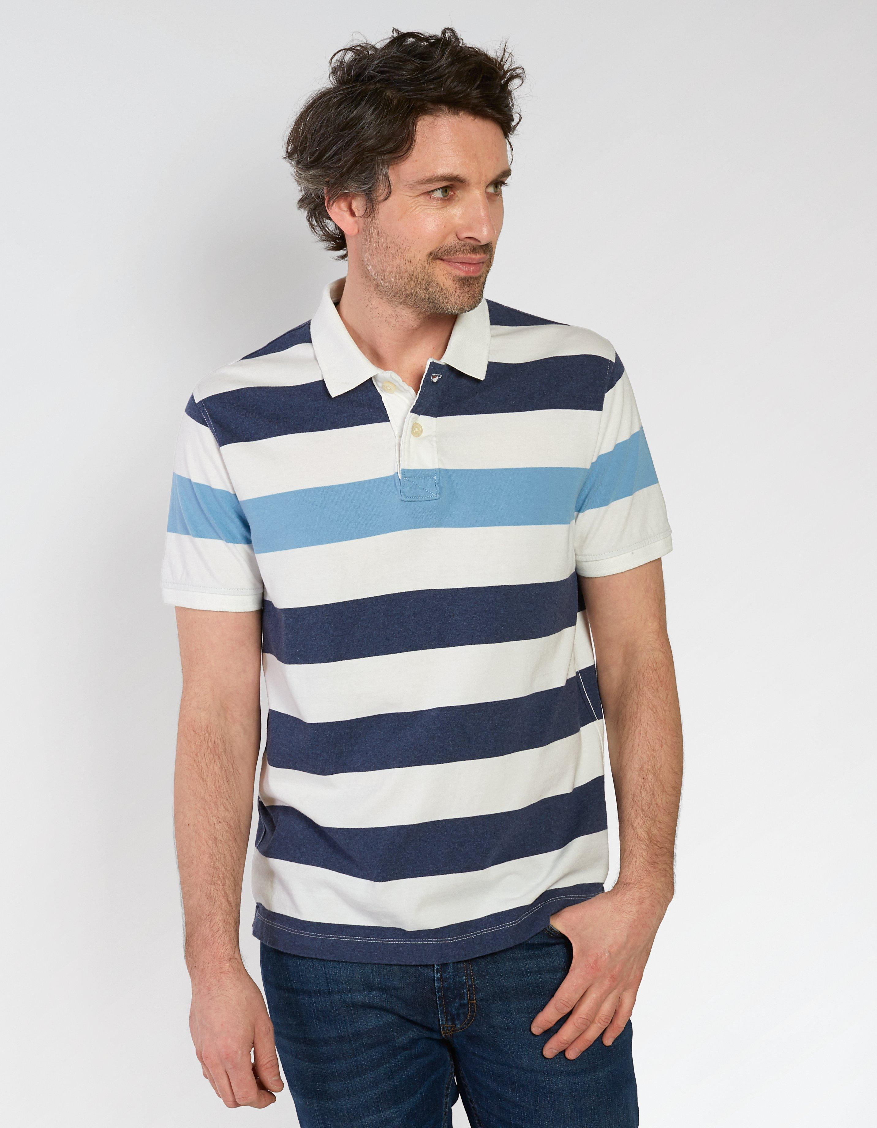 Portland Stripe Organic Cotton Polo