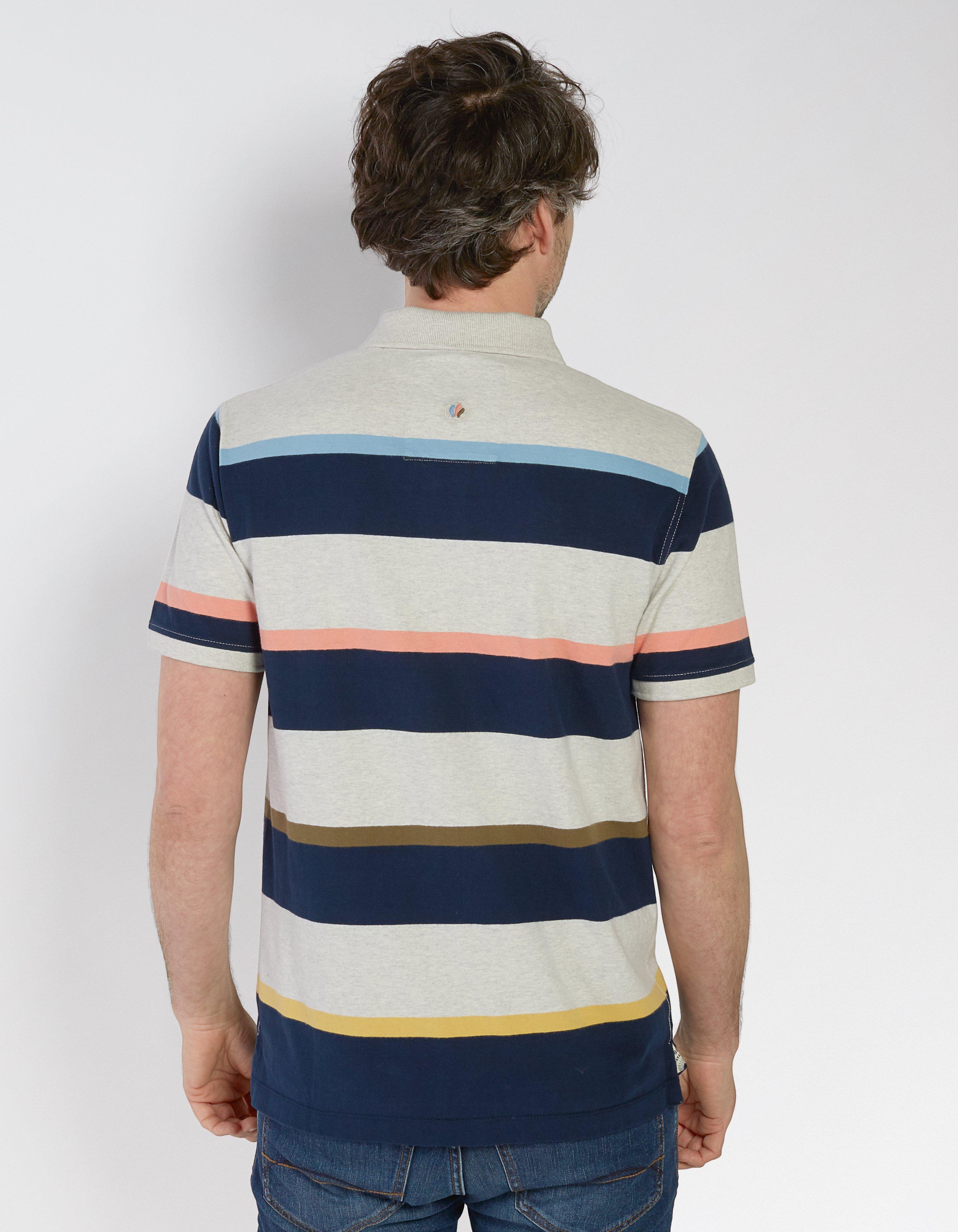 Merton Stripe Organic Cotton Polo
