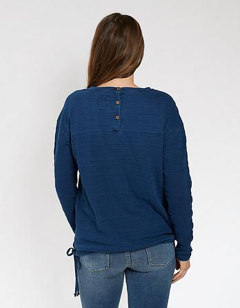 Upton Indigo Crew Neck Sweatshirt