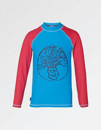 Fat Head Print Rash Vest