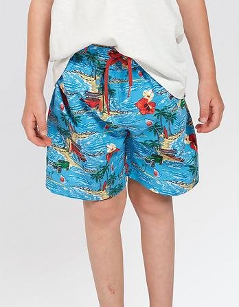 Island Retreat Print Board Shorts