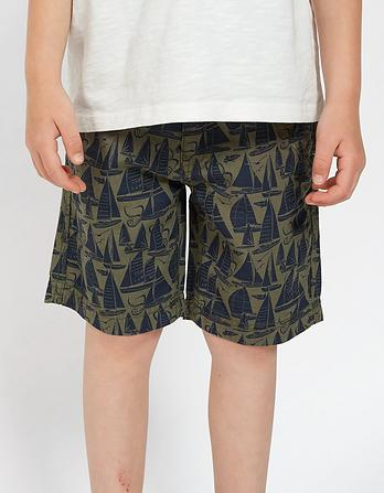 Sailing Print Shorts