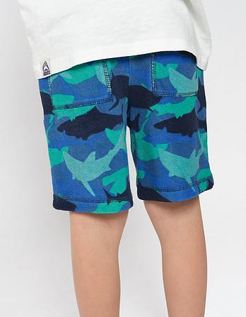 Shark Camo Towel Shorts