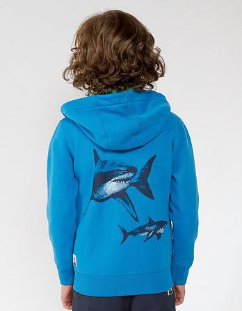 Shark Graphic Zip Thru Hoody