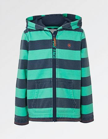 Sonny Stripe Zip Thru Hoody