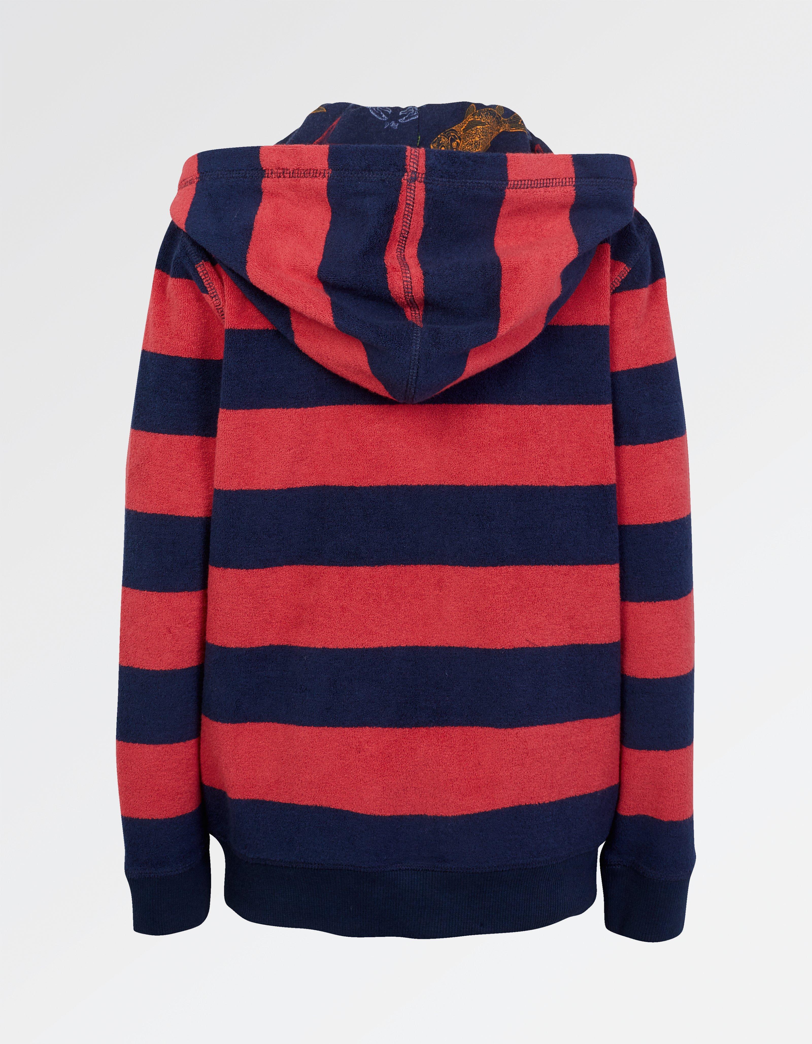 Stripe Towel Hoody